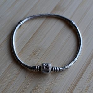 Authentic Pandora Sterling Silver Bracelet